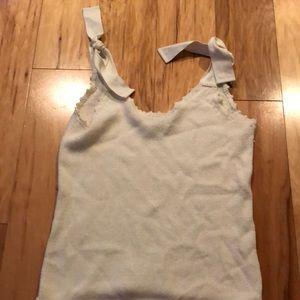 Knit cream tank top